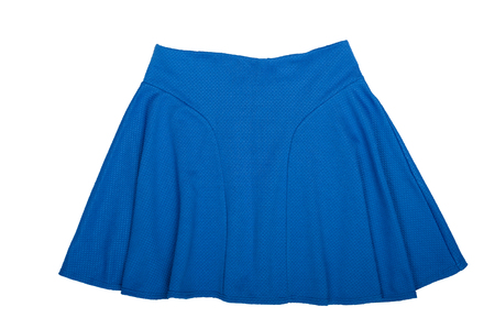 Blue Mini skirt. Isolated on white background