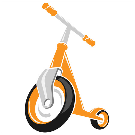 The illustration of the scooter