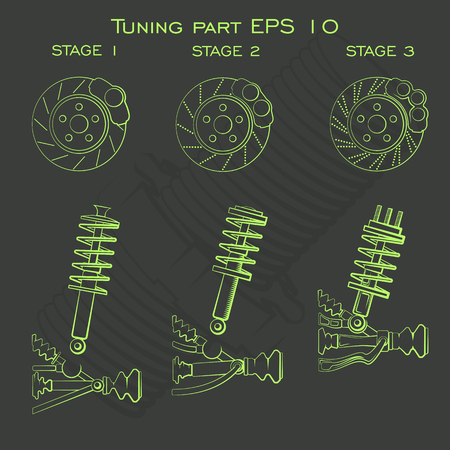 threads: tuning car icons for creating apps and games on automotive topics, tuning of the power unit and the external parts, and spare parts.