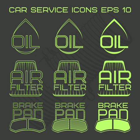 air cleaner: Car service icons web button.