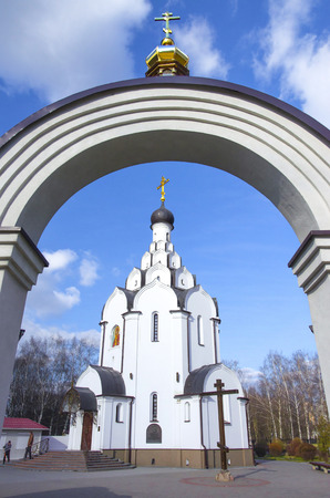 collecting: Minsk: orthodox church of an icon of the Mother of God Collecting the dead - church in memory of the victims of Chernobyl accident.