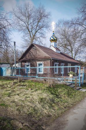 the orthodox church: Small orthodox church in Belarus, Minsk Stock Photo