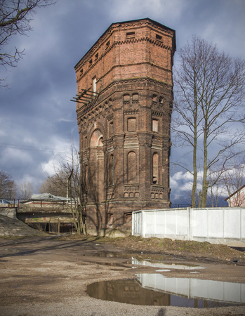 water tower: Ancient stone water tower Belarus, Minsk