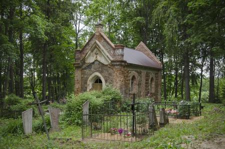 catholic chapel: Belarus: an ancient Catholic chapel on a cemetery.