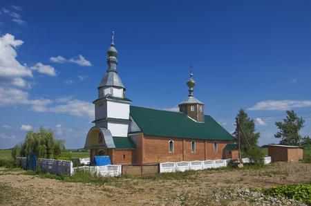 orthodox church: Belarus: small orthodox church on the edge of the village.