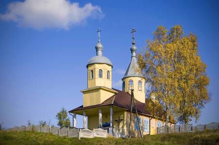the orthodox church: Belarus: small orthodox church on the edge of the village.