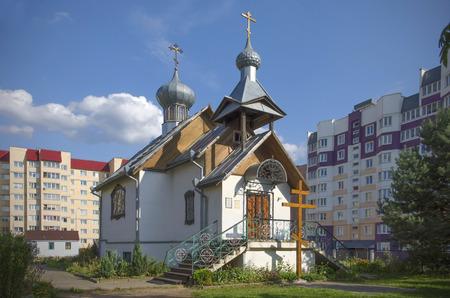 orthodox church: Belarus, Minsk: small orthodox church.