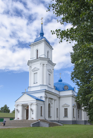 belarus: Belarus, Baranovichi: orthodox Pokrovsky Cathedral. Stock Photo