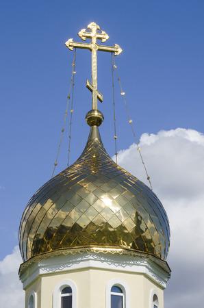 orthodox church: Belarus, Minsk: fragment of a dome of orthodox church of Andrew Pervozvannyi.