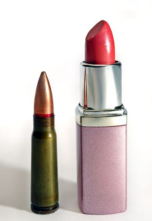 caliber: Caliber of lipstick Stock Photo