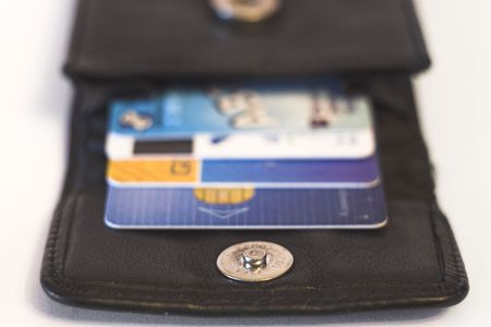 Credit cards in purse Stock Photo - 516251