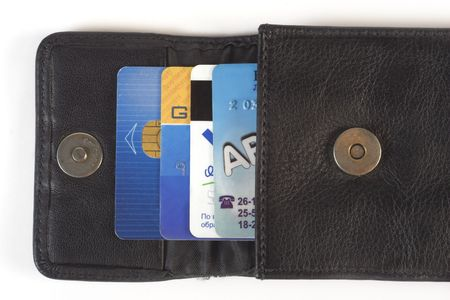 Credit cards in purse Stock Photo - 516252