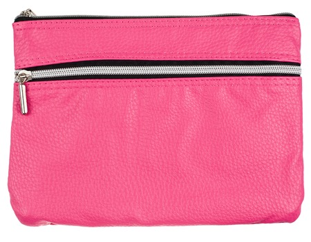 the pink bag isolated on white background photo