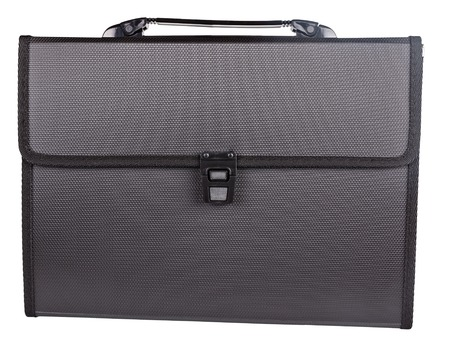 black briefcase: the black briefcase isolated on white background