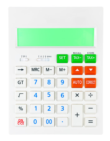 budgetary: The Calculator on display on white background