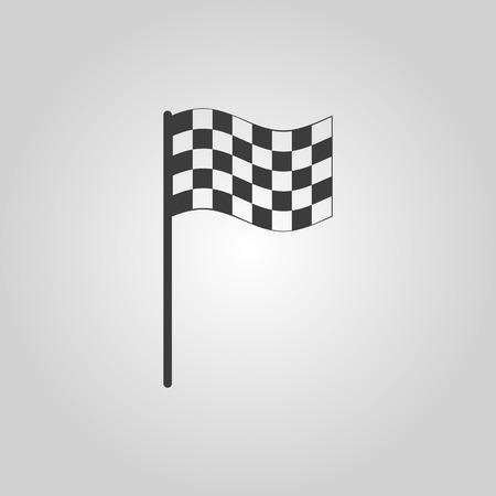 carting: El icono de la bandera a cuadros. S�mbolo Finalizar. Ilustraci�n vectorial Flat