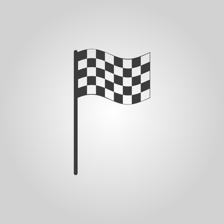 carting: The checkered flag icon. Finish symbol. Flat Vector illustration