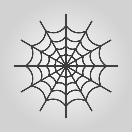 spiderweb: The spiderweb icon. Web symbol. Flat Vector illustration Illustration