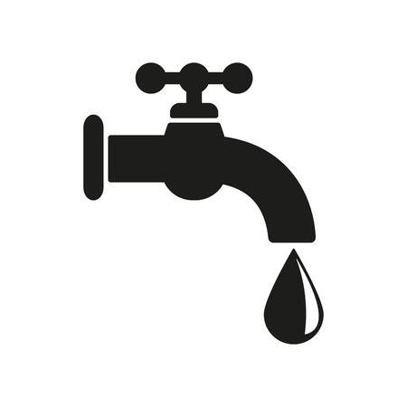 The tap water icon. Water symbol. Flat Vector illustration Vectores