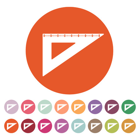 draftsmanship: The triangle icon. Triangle symbol.