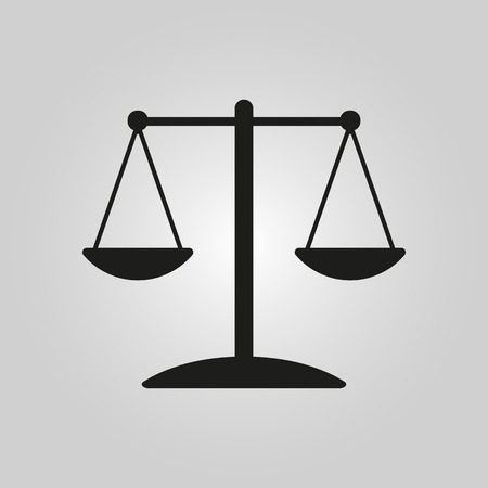 acquit: The scales icon.
