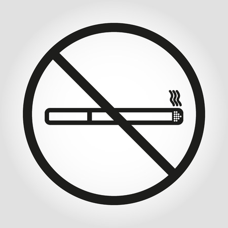 abstain: No smoke icon. Stop smoking symbol. Vector. Icon for public places. Illustration
