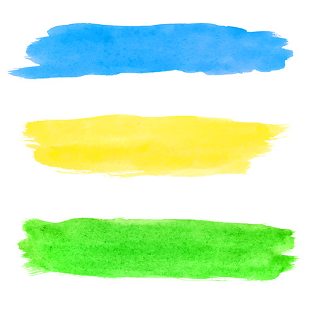 dub: The Colorful vector watercolor brush strokes. Set