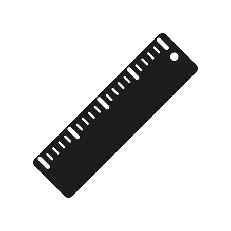ruler: The ruler icon. Ruler symbol. Flat Vector illustration