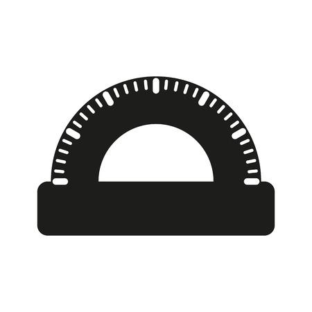 protractor: The protractor icon. Protractor symbol. Flat Vector illustration