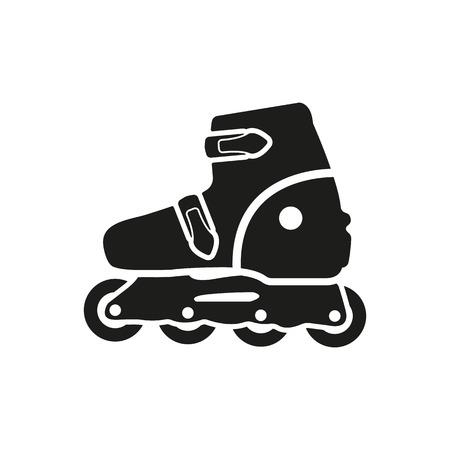 roller skating: The roller skate icon. Skates symbol. Flat Vector illustration Illustration