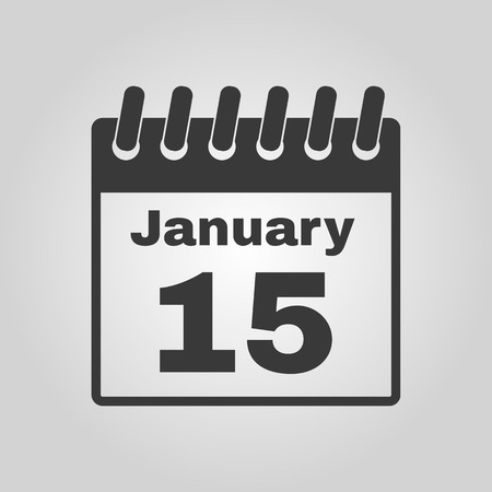 kalendarium: Ikona kalendarzowy. Symbol kalendarzowy. Płaski Vector