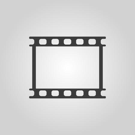 The film icon. Film symbol. Flat Vector illustration