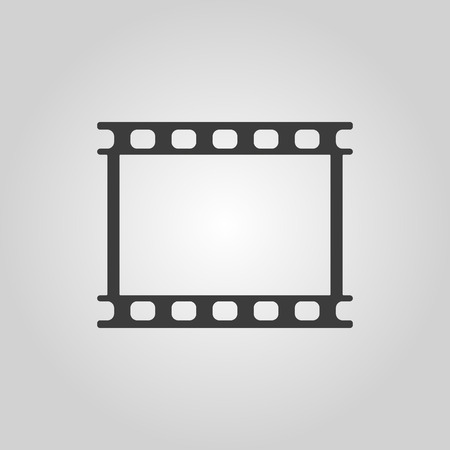 photo film: The film icon. Film symbol. Flat Vector illustration