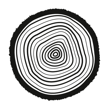 tree rings: The tree rings icon. Tree rings symbol. Flat Vector illustration.