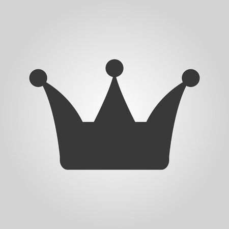 aristocracy: The crown icon. Crown symbol. Flat Vector illustration