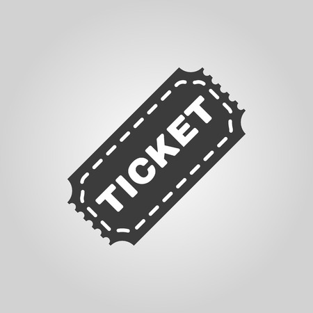 ticket icon: The ticket icon. Ticket symbol. Flat Vector illustration