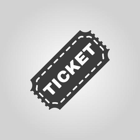 ticket icon: The ticket icon. Ticket symbol. Flat Vector illustration
