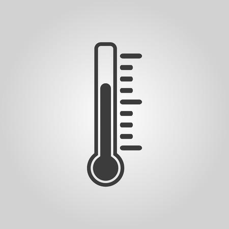 termómetro: El icono de termómetro. Símbolo de termómetro. Ilustración vectorial Flat