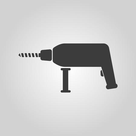 perforator: The drill icon. Perforator symbol. Flat Vector illustration Illustration