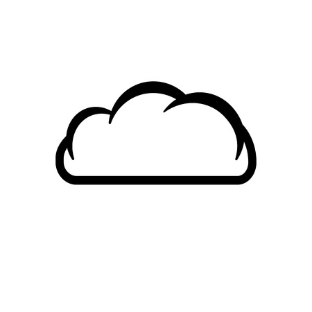 cloud network: The cloud icon. Cloud symbol. Flat Vector illustration