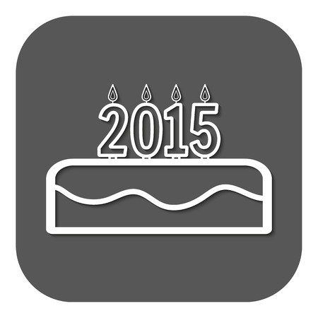 number candles: pastel de cumplea�os con velas el n�mero 2015. Vector. Flat. Elemento de dise�o gr�fico Vectores