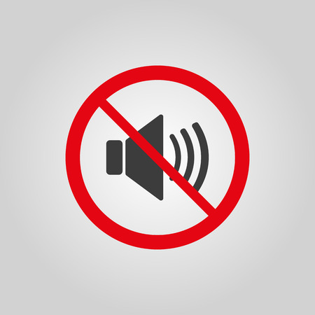 The no sound icon. Volume Off symbol. Flat Vector illustration Vector