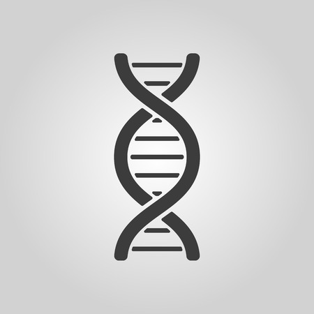 DNA의 아이콘입니다. DNA 기호입니다. 평면 벡터 일러스트 레이 션