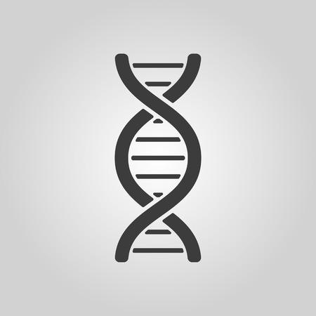 Het pictogram dna. DNA symbol. Flat Vector illustratie Stock Illustratie