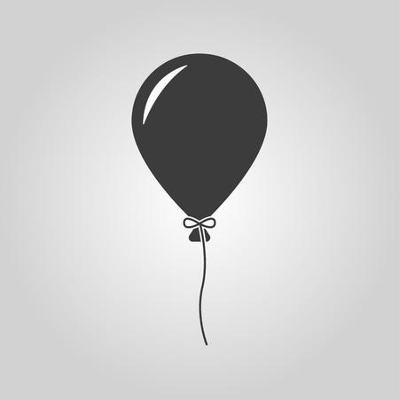 De ballon pictogram. Vakantie symbool. Platte Vector illustratie