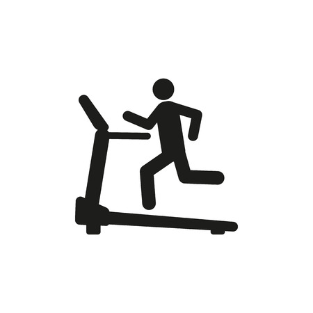 physical activity: Cross trainer machine icon. Running symbol. Flat Vector illustration Illustration