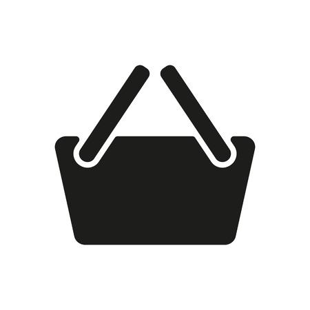 shoping: The basket shoping icon. Shop Basket symbol. Flat Vector illustration Illustration