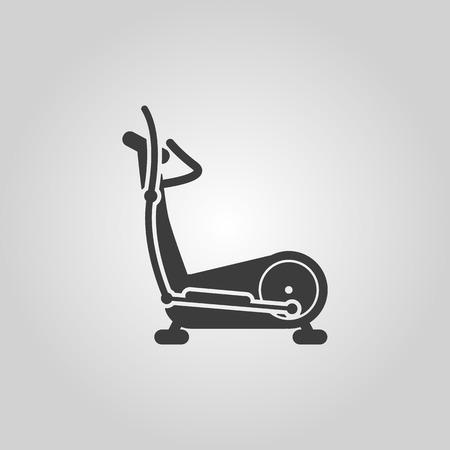 elliptical: The elliptical trainer icon. Bike symbol. Flat Vector illustration