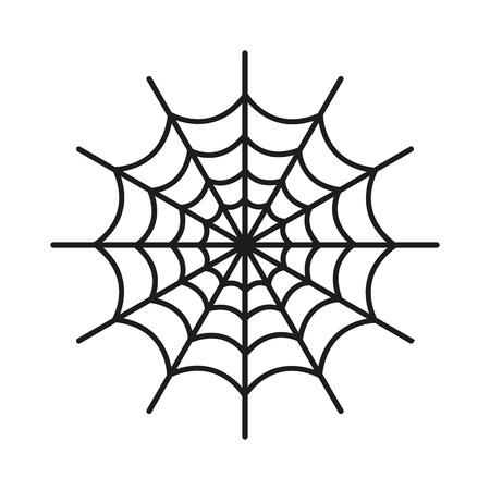 Het pictogram spinnenweb. Web-symbool.