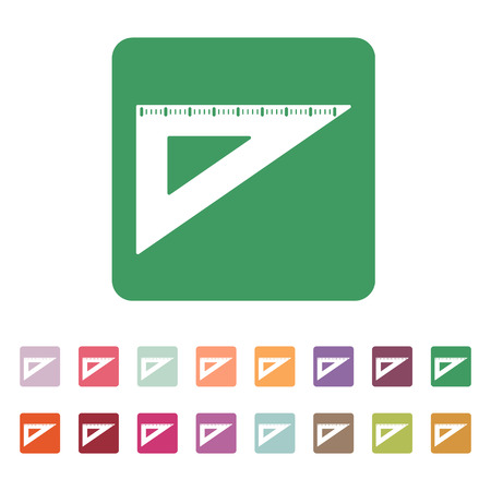 triangle button: The triangle icon. Triangle symbol. Flat. Vector illustration. Button Set
